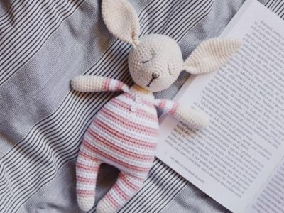 Crochet pattern for Rosy the Sleepy Bunny Amigurumi