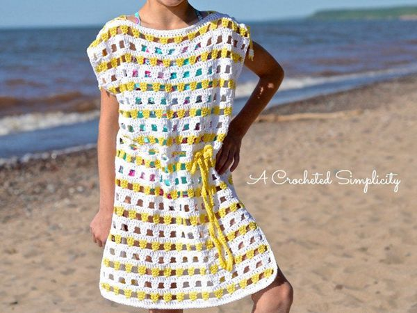 Sunny Days Crochet Beach Cover-Up pattern