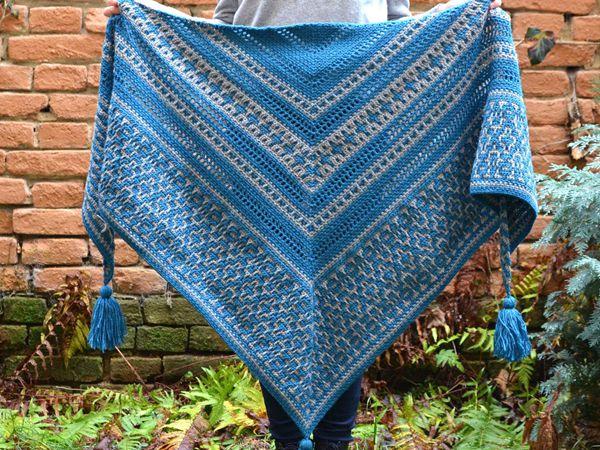 crochet Amaya Mosaic Shawl pattern