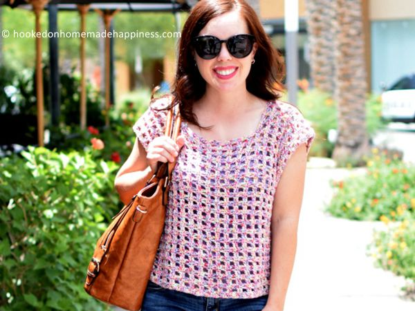 crochet Block Party Tee free pattern