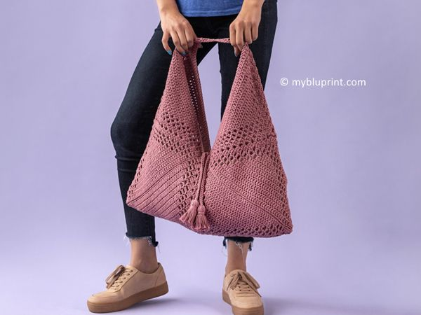 crochet Boho Market Bag free pattern