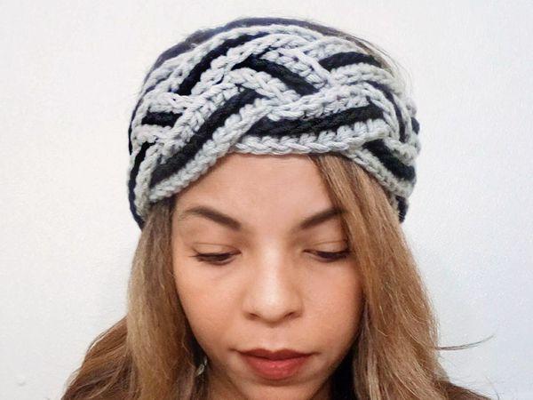 crochet Braided Headband free pattern