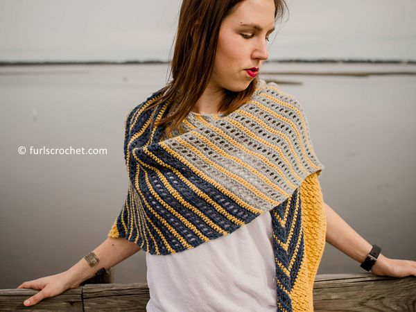 crochet Bronwyn Shawl free pattern