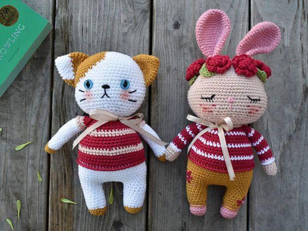 crochet Combo Momo Cat and Gigi Bunny pattern