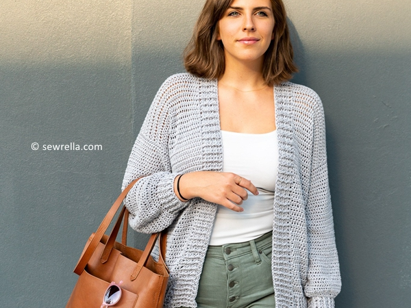 crochet Everyday Cotton Cardigan free pattern