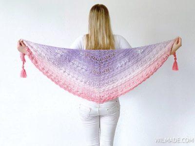 crochet Flower Puff Shawl free pattern