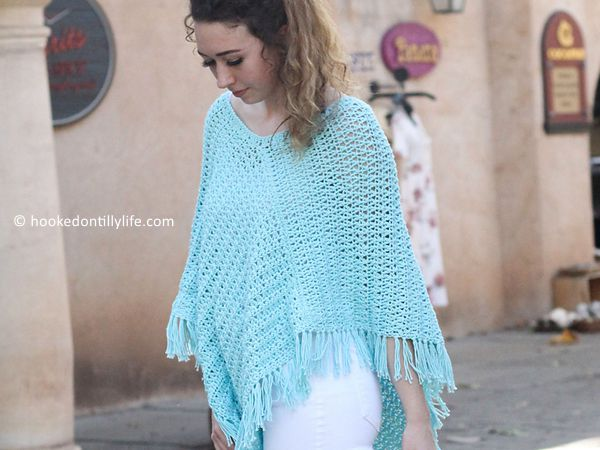 crochet Garden Poncho free pattern