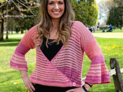 crochet Julia Cardi Sweater free pattern