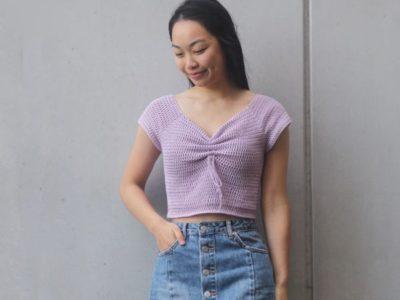 crochet Magnolia Sweetheart Top free pattern
