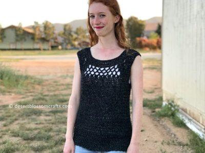 crochet Midnight Top free pattern