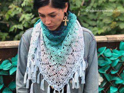 crochet Peppermint Tea Triangle free pattern