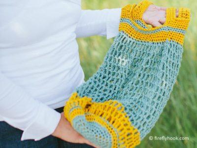 crochet Pocket Market Bag free pattern
