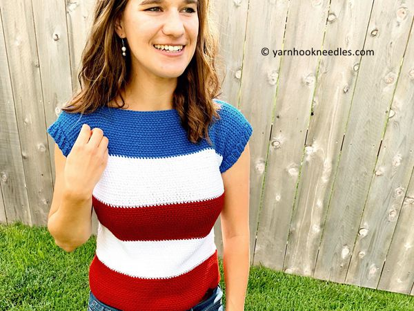 crochet The Perfect Striped Tee free pattern
