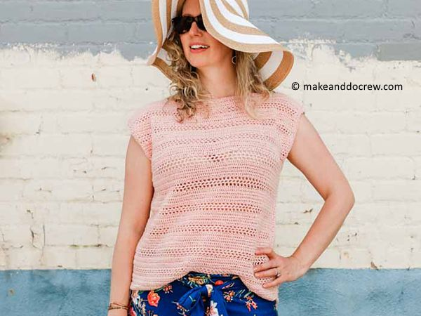 easy crochet top pattern free