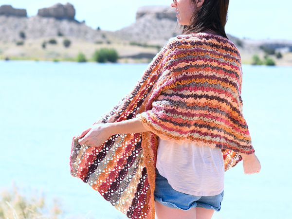Crochet Isla Scalloped Wrap Free pattern