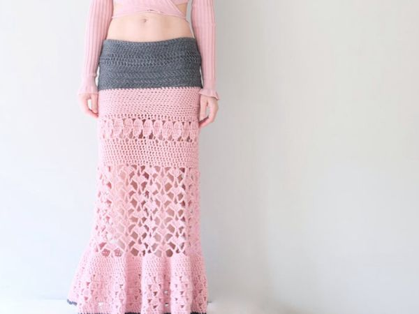 Crochet Maxi Long Skirt Pattern