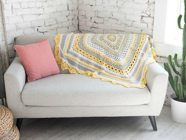 Crochet Sunny Day Baby blanket FREE Pattern