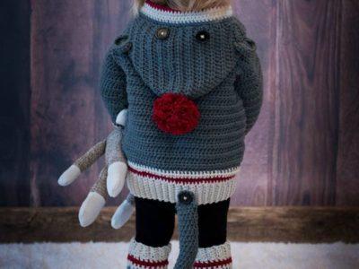 crochet Child & Adult Sock Monkey Set free pattern