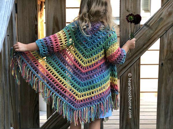 crochet Child Shawl Cardigan free pattern