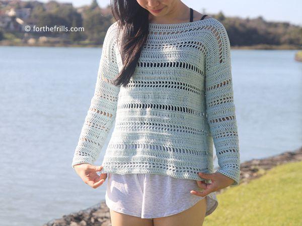 crochet Coastal Shores Sweater free pattern