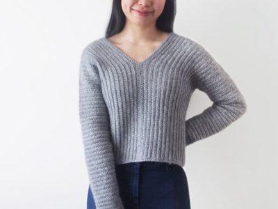 crochet Elevation Sweater free pattern