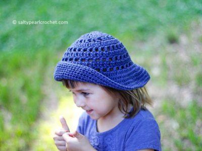 crochet Floppy Eyelets Sun Hat free pattern
