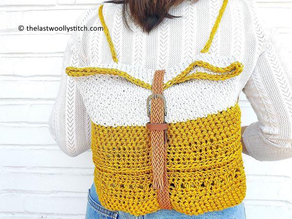 How to crochet mini backpack 🎒 - YouTube | 450x600
