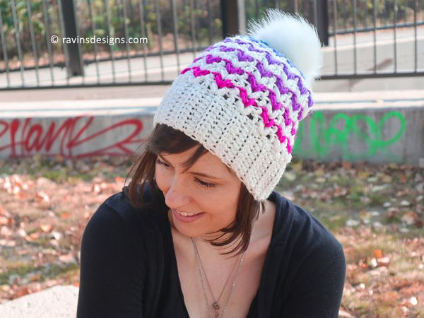 crochet Hearts Desire Hat free pattern