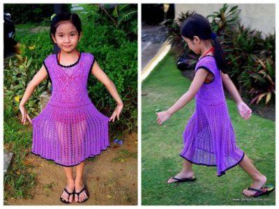 crochet Kelly Summer Dress for Toddler free pattern