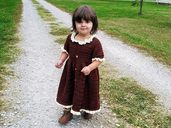 crochet Little Pilgrim Toddler Dress free pattern