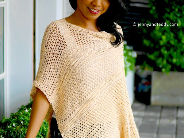 crochet Love You to the Moon Poncho free pattern