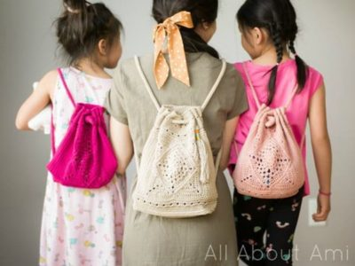 crochet Mini Wildrose Backpack free pattern