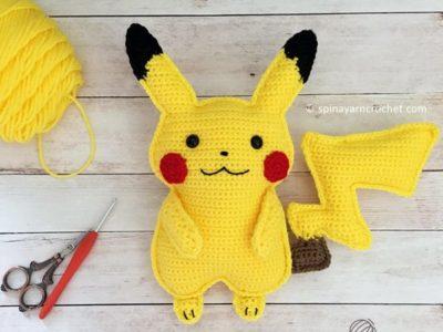 crochet Pikachu Amigurumi free pattern