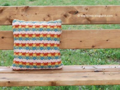 crochet Retro Pillow Cushion free pattern