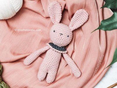crochet Rose Bunny Amigurumi free pattern