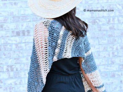crochet Santa Monica Bias Wrap free pattern