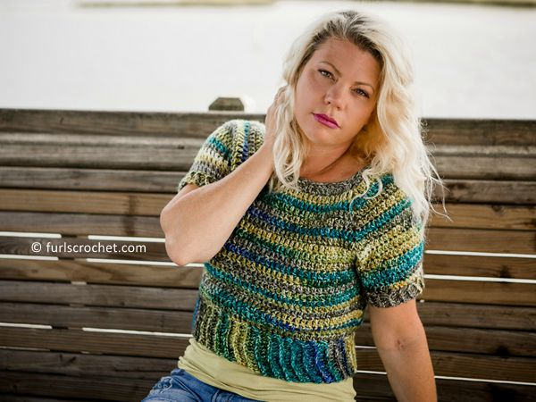 crochet Sightseer Cropped Top free pattern