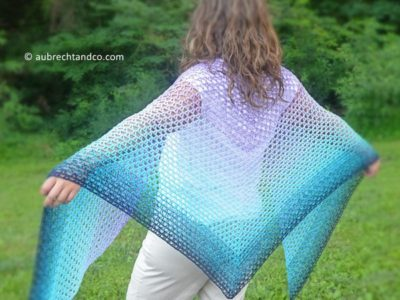 crochet Summer Path Shawl free pattern