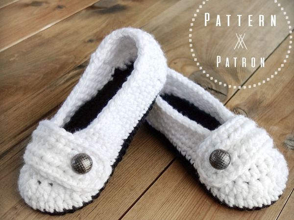 crochet The Ballerinas Slippers free pattern