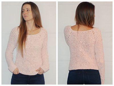 crochet The Velvet Raglan Sweater free pattern