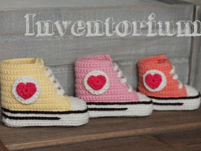 CROCHET Old Skool Kicks Baby Booties easy pattern