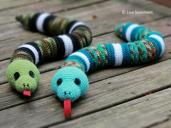 Crochet Boa Snake free pattern