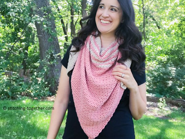 crochet Tela Triangle Shawl