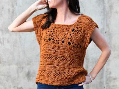 Simple Crochet Sleeveless Top