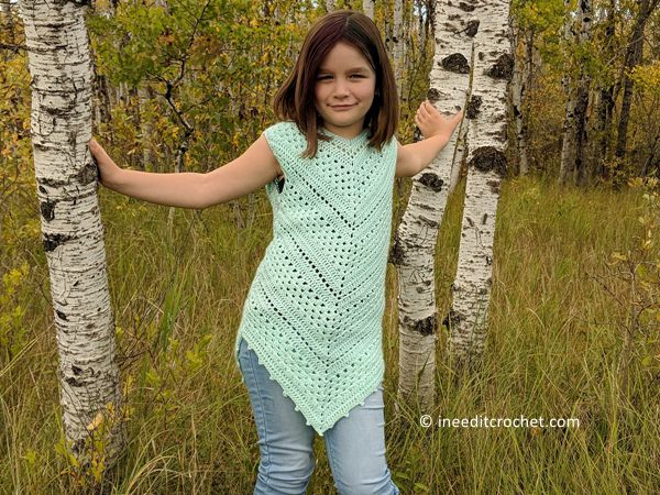 ceochet Angles Tunic top free pattern