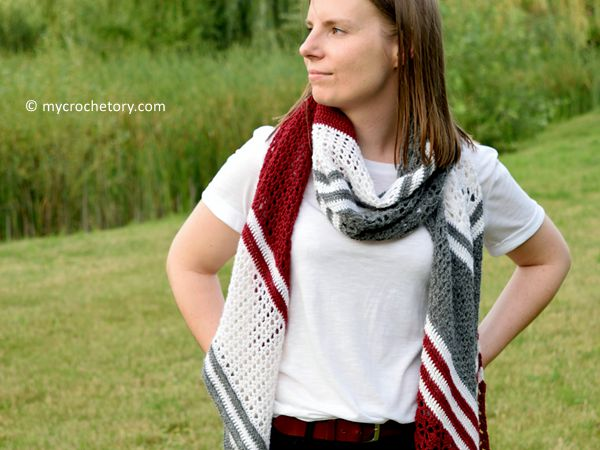 crochet Arrow Wrap free pattern