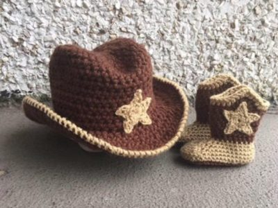 crochet Baby Cowboy Outfit free pattern