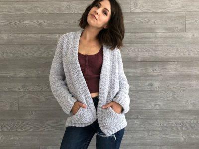 crochet Cozy Boyfriend Cardigan free pattern