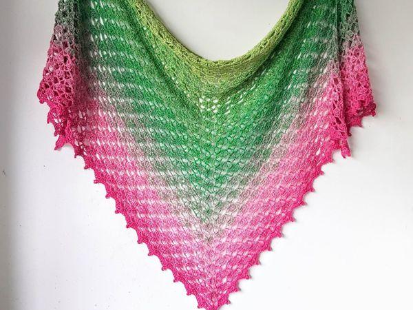 crochet Fragrant Shawl free pattern