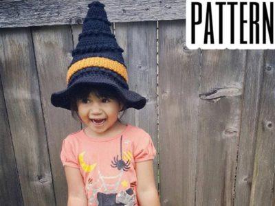 crochet Halloween Witch Hat free pattern